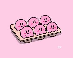 """Fresh batch of Kirbs"" Chibi, Kirby Memes, Kirby Nintendo, Kirby Character, Aesthetic Desktop Wallpaper, Cute Kawaii Drawings, Video Game Art, Cute Icons, Cute Characters"