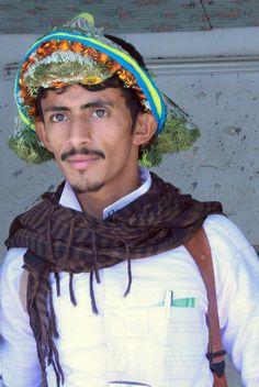 Flower Man in Tihama Saudi Arabia