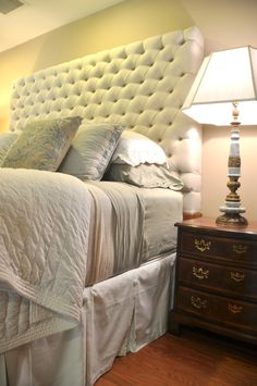Tufted Headboard. Wrought Iron HeadboardDiy ...