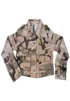 #Womens Subdued Woodland Camo Vintage Jacket