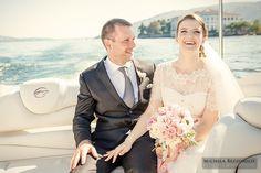 Wedding on Lake Maggiore - Isole Borromeo - Bride and Groom | #michelarezzonico #weddingphotographer #guastinistyle #weddingplanner #light #lake #love