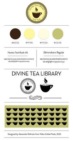 Divine Tea Library Logo + Branding Board