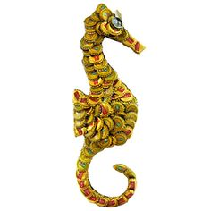 Brighten up your eclectic decor with this sea horse wall plaque. This beautiful piece is handmade with recycled metal bottle caps by artisans in Kenya. Variations in color should be expected. Beer Cap Art, Beer Bottle Caps, Bottle Cap Art, Beer Caps, Bottle Cap Projects, Bottle Cap Crafts, Plastic Bottle Tops, Beer Cap Crafts, Recycled Art