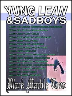 Yung Lean Black Marble Tour