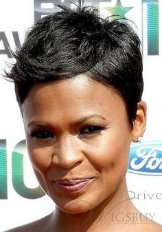 Image detail for -... African American Short Natural Black Full Lace Wig at Wigs-Sale.com
