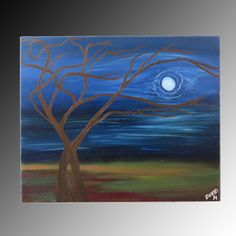 "Oil on canvas. 60 x 50 cm. ""A tree I painted in my childhood, but happier"". Artist: David Braesch."