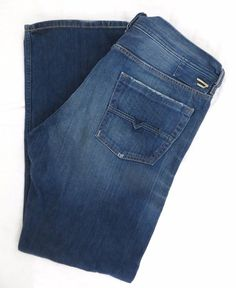 DIESEL Jeans Kratt 38 x 34 Button Fly Relaxed Straight Fit Authentic Denim Italy #DIESEL #ClassicStraightLeg