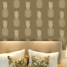 stencilled lining paper perfect for creating your own wall paper