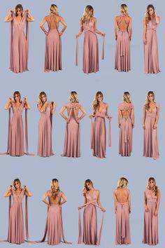 Dresses Clarita Maxi Dress Mauve is part of Wrap dress bridesmaid - Infinity Dress Ways To Wear, Infinity Dress Styles, Multiway Bridesmaid Dress, Infinity Dress Bridesmaid, Infinity Dress Tutorial, Vestido Convertible, Wedding Bridesmaids, Wedding Dresses, Maxi Dresses