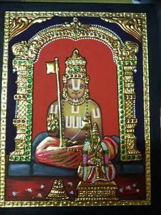 Ramanujacharya Tanjore Painting............