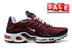NIKE AIR MAX TN/TUNED REQUIN 2014 - CHAUSSURES NIKE SPORTSWEAR PAS CHER POUR HOMME Rouge/Noir/Blanc 604133-309