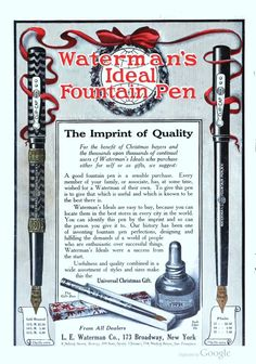Christmas (And Related Holidays) Fountain Pen Ads - Pen History - The Fountain Pen Network