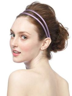 Stretch Charmeuse Double Head Band - $7 each headband (has silver, not gold)