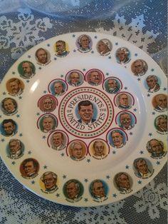 Vintage President Plate John F. Kenndry by Vintagepetalpushers