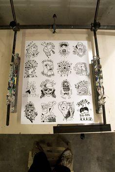CLASSIC SERIE !!! FUZI UV TPK Série de 30 ex  papier Canson 250gr.