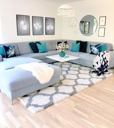 What you guys think about this bright living room setup. Living Room Setup, Living Room Sofa Design, Living Room Decor Cozy, Living Room Color Schemes, Home Room Design, Living Room Grey, Home Living Room, Home Interior Design, Living Room Designs
