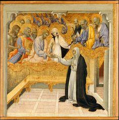 Giovanni di Paolo (Giovanni di Paolo di Grazia) | The Mystic Marriage of Saint Catherine of Siena | The Metropolitan Museum of Art