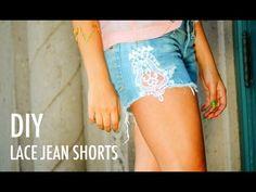 DIY: lace jean shorts