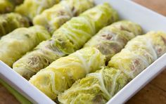 CABBAGE ROLLS 6 lg. cabbage leaves 1/2 lb. ground chuck 1 tbsp. minced onion 1 egg 2 slices white bread Salt & pepper to taste Tomato sauce Boil cabbage leaves in salt water for 5 minutes, set …