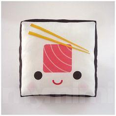 Decorative Pillow, Mini Pillow, Kawaii Print, Toy Pillow - Yummy Tuna... ($18) ❤ liked on Polyvore