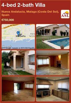 4-bed 2-bath Villa in Nueva Andalucia, Malaga (Costa Del Sol), Spain ►€750,000 #PropertyForSaleInSpain