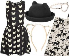 If there's a trend we can get behind, it's cats. LOVE the cat dress!