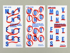 Loes van Esch and Simone Trum (Team Thursday), Moving Futures, (via Posters in Amsterdam)