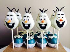 Olaf Cake Pops | Disney's Frozen Cake Pops | Krafty Krumbs