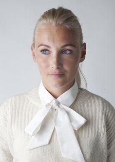 Bow Bow White Collar | La Collerette