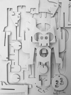 Relief Assemblage by Cecil Touchon