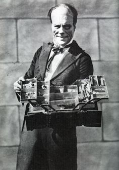 Lon Chaney and his magic box. He was one of the first great movie stars.