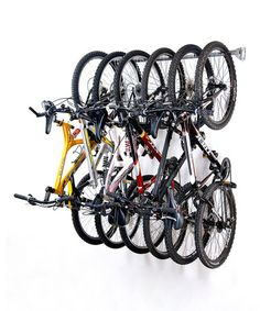 Loving this Gray Six-Bike Storage Rack on #zulily! #zulilyfinds