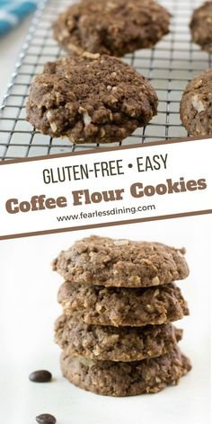 Coffee flour is full of delicious flavor, it tastes even better with coconut! Enjoy this quick and easy cookie recipe. Naturally gluten free, dairy-free option. fearlessdining Best Gluten Free Cookie Recipe, Easy Cookie Recipes, No Flour Cookies, Coconut Cookies, Coffee Flour, Easy Coffee, Dairy Free Options, Macaroons, Food To Make