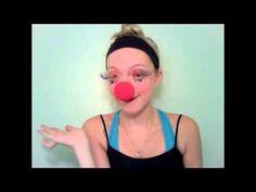 "▶ easy ""CUTE CLOWN"" makeup tutorial! halloween 2011 - YouTube Clown Makeup Tutorial, Cute Clown Makeup, Clown Halloween Costumes, Fall Halloween, Halloween Foods, Makeup Tutorials Youtube, Perfect Makeup, Make Up, African"