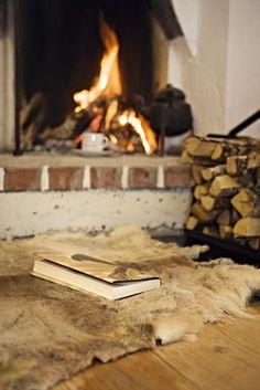 books, cabin, winter, rug, heaven