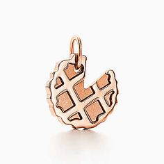 Tiffany Charms sugar pie charm in 18k rose gold.