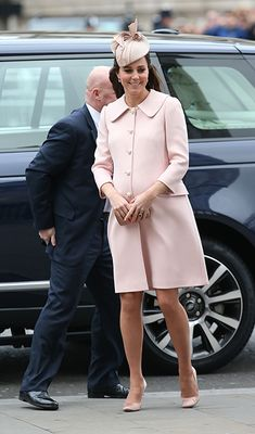 Princess Kate at one of her final engagements before her second baby's birth in April 2015