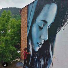 Work by @starfightera #streetart #mural #graffiti