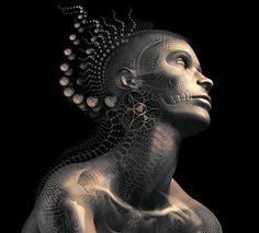machineelves: ॐ Art by Luminokaya. Gif by DarkAngel0ne. Follow Machine Elves for more psychedelic art ॐ