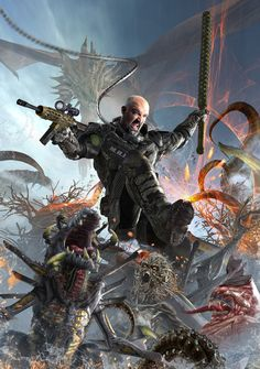 Monster Hunter Book cover art for Monster Hunter series. This one is where  the author f2ac81c6f0e7