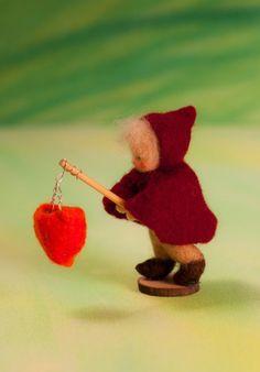 ภเгคк ค๓๏ Waldorf Crafts, Waldorf Toys, Felt Crafts, Crafts To Make, Crafts For Kids, Wool Dolls, Felt Dolls, Autumn Crafts, Nature Crafts