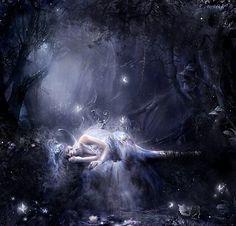 Mystical Fairies | ... art moon trees moon magical beautiful mysterious love fairy moonlight