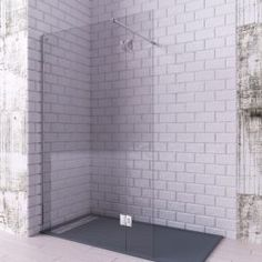 Mampara de ducha cristal fijo + abatible Small Bungalow, Tile Floor, Bathtub, Bathroom, House, Furniture, Alicante, Grande, Home Decor