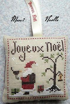 Cross Stitch - Santa & Tree
