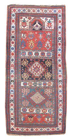 Karabagh Prayer Rug Late 19th C Caucasus