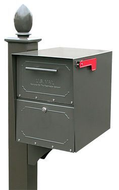 Medium Oasis Locking Mailbox with Deluxe Post