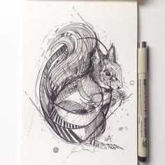 Squirrel ink © Alfred Basha