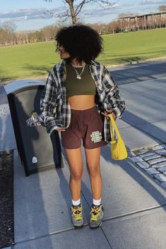 Baddie Outfits Casual, Cute Swag Outfits, Chill Outfits, Trendy Outfits, Tomboy Fashion, Teen Fashion Outfits, Retro Outfits, Look Fashion, Mode Streetwear