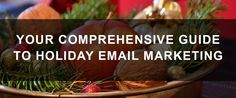 Learn how to utilize email marketing this holiday season to increase your eCommerce sales! Marketing Tools, Email Marketing, Holiday Emails, Ecommerce, E Commerce
