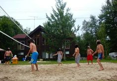 Beach Volleyball & Gourmet Cooking - Washago - A cottage rental in Washago, Ontario, Canada - CanadaStays Rentals Clearwater Lake, Gourmet Cooking, Lake Cottage, Post And Beam, Beach Volleyball, Cottages, Ontario, Canada, Check